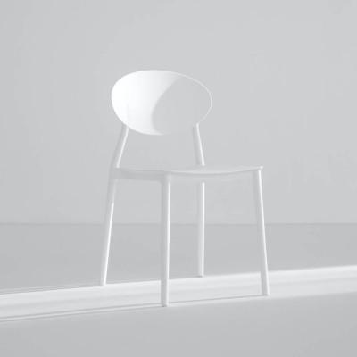 펄 화이트 베이직 의자
