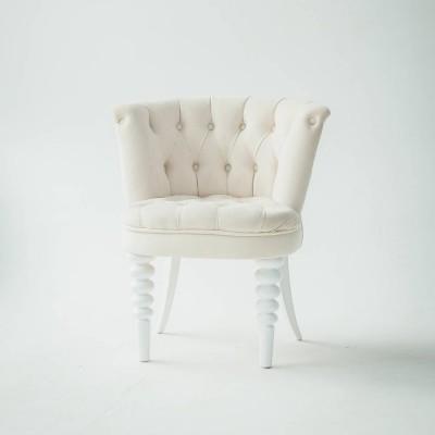 베이비 싱글 쿠션 화이트 의자